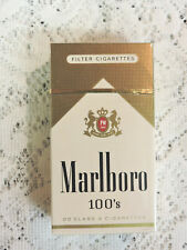 Vintage Marlboro 100's Filter Cigarette Pack EMPTY Display Only Hard Box