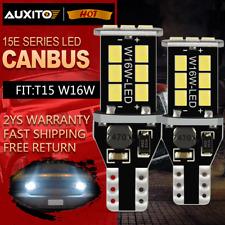 2X LED Canbus Rückfahrlicht Rueckfahr Lampe Leuchte T15 921 912 2835 15SMD Weiß