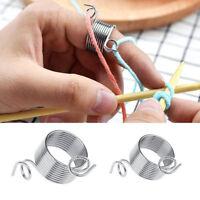 stainless steel knitting tool finger thimble yarn spring stranding gui3C