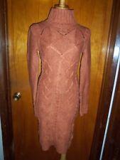 Victoria's Secret Moda International Rust Cable Knit Turtleneck Sweater Dress XS