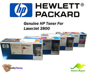Genuine HP Q7581A Q7582A Q7583A [SEALED] & Q6470A [OPEN] Toner 503A 510A 3800