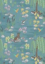 SK02 Lewis & Irene Down by the River Herron Bird Cotton Quilt Fabric