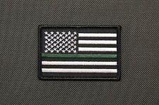 Thin Green Line U.S. Flag Patch Border Patrol CBP Sheriff Park Rangers TSA VIPR