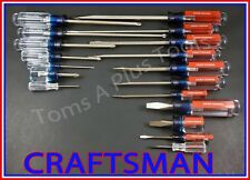 CRAFTSMAN HAND TOOLS 18pc Phillips & slotted flat blade screwdriver set USA MADE