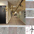 6 Size Giant Spiders Web Cobweb Halloween Decor Haunted House Party Decoration