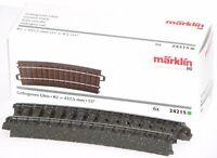 Märklin H0 24215-S C-Gleis gebogen R2 = 437,5 mm / 15° (6 Stück) - NEU + OVP