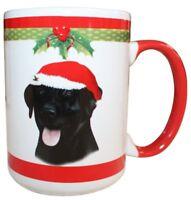 Labrador Black Christmas Coffee Mug 15 oz E&S Pets Dog Puppy Tea Cup Holiday Lab