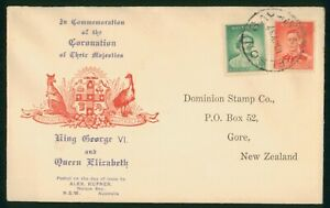 Mayfairstamps Australia FDC 1937 KGVI & Queen Elizabeth First Day Cover wwo1337