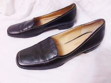 ROCKPORT Womens Slip On Loafers Shoes 8.5 N Narrow Black Leather Sole Innovation