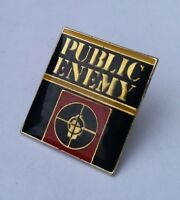 PUBLIC ENEMY 1980s / 90s PIN BADGE OLD SKOOL RAP HIP-HOP DEF JAM CHUCK D