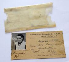 Original Luftschiffbau Zeppelin Ausweis von 1935 streng Rückgabepflichtig!!!