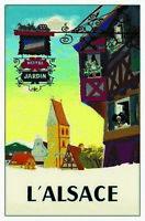 L'Alsace L Alsace Frankreich Blechschild Schild Tin Sign 20 x 30 cm CC0533