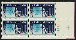 #2087 20c Health Research, Plate Block [A11111 LR] Mint **ANY 4=FREE SHIPPING**