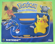 Nintendo 64 N64 Pokemon Pikachu Edition Console Rare European PAL New SEALED !!!