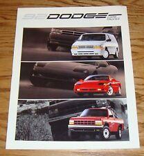 Original 1992 Dodge Car & Truck Full Line Sales Brochure 92 Ram Stealth