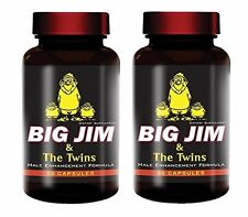 Pack of 2 Male Enhancement Pills Penis Natural Hard Enlargement Big Jim & Twins