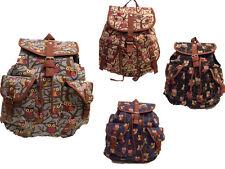 Canvas Fashion animal owl Backpack Rucksack Shool College Gym Shoulder bag