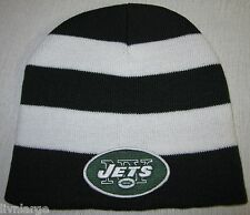 New York Jets BEANIE ~SKULL CAP ~CLASSIC MLB PATCH/LOGO ~GREEN & WHITE ~NEW