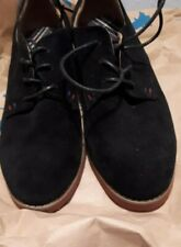 631000ec57ef new ladies tommy hilfiger black suede leather lace up shoes size uk 7-5 us