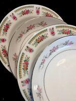 4 - Vintage Mismatched China Pink Soup Pasta Bowls Shabby Cottage #150