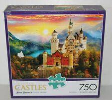 "Buffalo Majestic Castles "" Castle Dream "" 750 Piece Puzzle Complete 24"" x 18"""