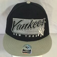 New York Yankees Snapback Hat Baseball Cap Black White Gray Embroidered