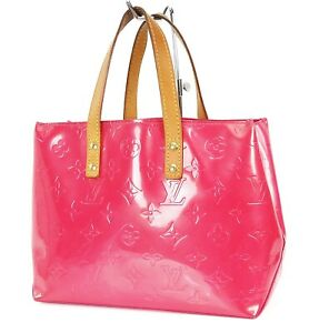 Auth LOUIS VUITTON Reade PM Framboise Pink Vernis Leather Tote Hand Bag #38336