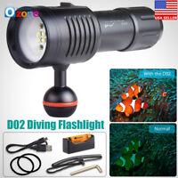 D02 Scuba Diving Underwater 100M Video / Camera Photography Light Torch Flashlig