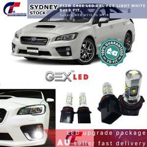 2pc P13W CREE 1500LM LED DRL Daytime Light Bright White For Subaru WRX 2014-2020