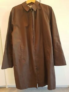 Mens Brown Duster Coat. Size Xl
