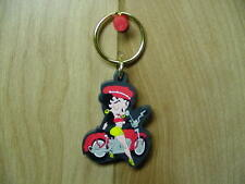 BETTY BOOP KEY CHAIN /ZIPPER PULL LOTS 2 PIECES - BIKER WINKING DESIGN (RETIRED)