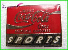Pin's pins Badge Coca Cola Buvez coke SPORTS recctangle #H3