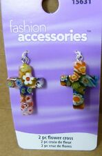 LOT of 16 Charms - Fashion Accessories - Flower Cross Charms