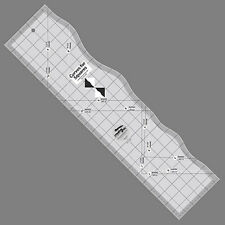 Creative Grids CURVES FOR SQUARES Quilt Ruler NEW Gentle Half Square Triangles
