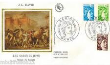 1978 -ENVELOPPE SOIE-FDC 1°JOUR -SABINE GANDON-J. L.DAVID - TIMBRE Yt.1975/77/79