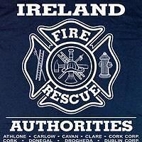 Ireland Fire & Rescue Firefighter Irish T-shirt  2XL