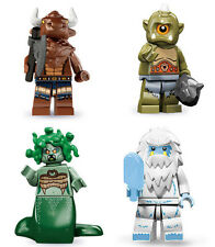 Lego Minifigures Mythology - Ser6/9/10/11 Minotaur + Cyclops + Medusa + Yeti New