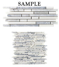 *SAMPLE Bullet Light Gray Bianco White Carrara Marble Kitchen Bathroom Mosaic
