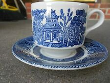CHURCHILL Blue Willow CUP and SAUCER  made in England