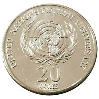 Australia 1995 United Nation 50th Anniversary 20c  Uncirculated Coin Loose - RAM