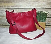 Stone Mountain Red Pebbled Leather Purse Shoulder Bag Crossbody Tote