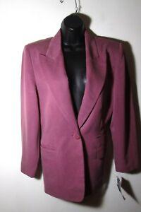 Women's AMANDA SMITH Mauve Blazer Suit Jacket Size 10P NWT