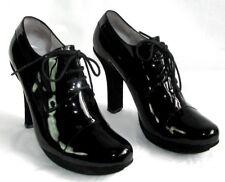 FREE LANCE - Bottines low boots talons 10 cm cuir verni noir 37 - TRES BON ETAT