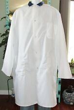 """Best Medical L/S Lab Coat Snaps 3 Pocket & Side vents 44"""" Length Size 4X White"""