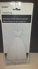 "Wedding Dress Honeycomb Decoration 10"" tall Bridal Shower Wedding Bachelorette"