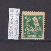 GERMANY 1945 Soviet zone, Mi# 95AXdw, plate XIV, CV €15, signed, MNH