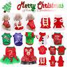 Various Dog Puppy Christmas Santa Warm Costumes Coat Clothes Pet Apparel Shirt
