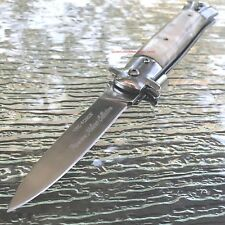"9"" TAC FORCE ITALIAN MILANO TACTICAL SPRING ASSISTED PEARL POCKET OPEN KNIFE"