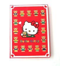 "Vintage Sanrio Hello Kitty ""Teddy Bear"" 30 Pocket Photo Red Album Book"