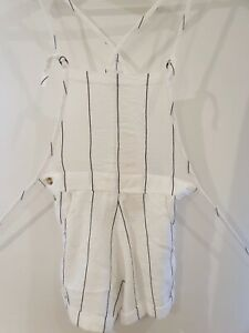 ELEMENT Brand New With Tags White Striped Jumpsuit Size 10